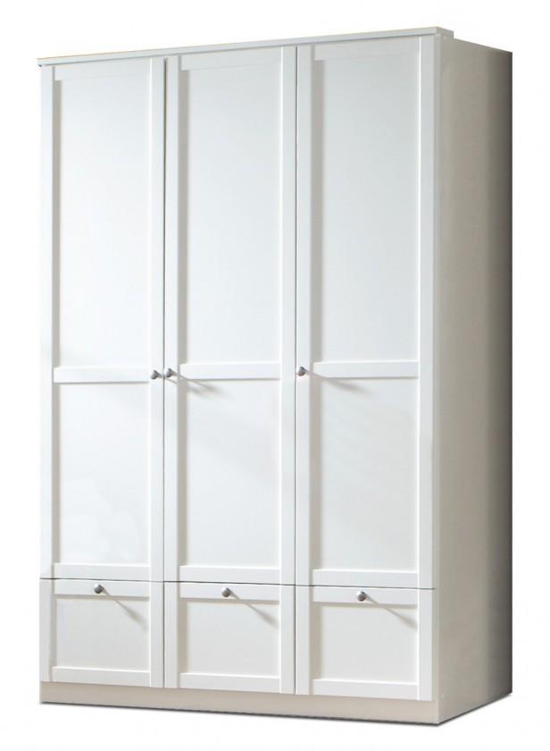 Dětská skříň Filou - Skříň třídveřová se zásuvkou (alpská bílá)