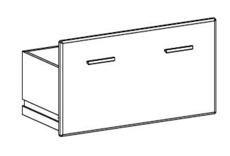 Dětská skříň Funky - typ 65 (Modřín/orange)