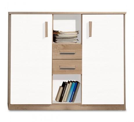 Dětská skříň Game - Skříňka (bílá, dub)