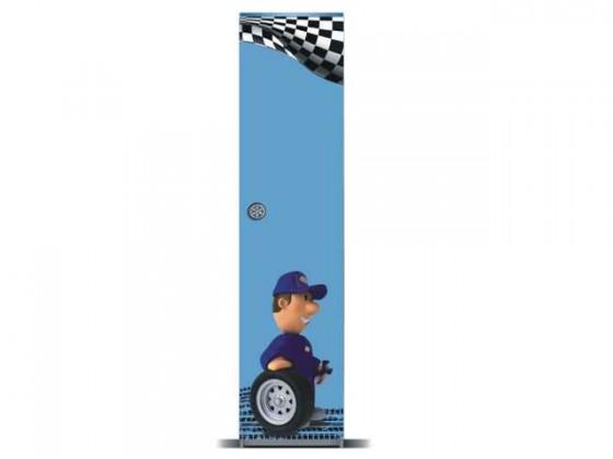 Dětská skříň Junior mechanik - Skříň (šedá/modrá, 1x dveře)
