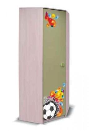 Dětská skříň Junior - Skříň, míč 3 (bříza/zelená)