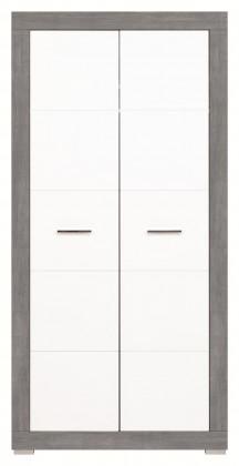 Dětská skříň Lightning - Skříň (bílá, šedá)