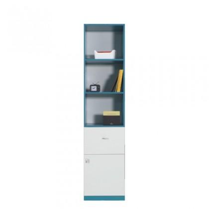 Dětská skříň MOBI MO 5 L/P (bílá lesk/tyrkysová)