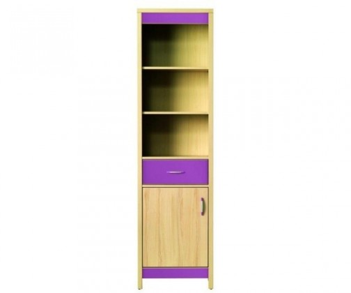 Dětská skříň Monza - skříň, CD6 (višeň cornvall, fialová)