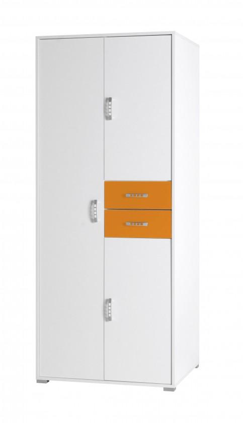 Dětská skříň Nemo 2 (bílá/oranžová)