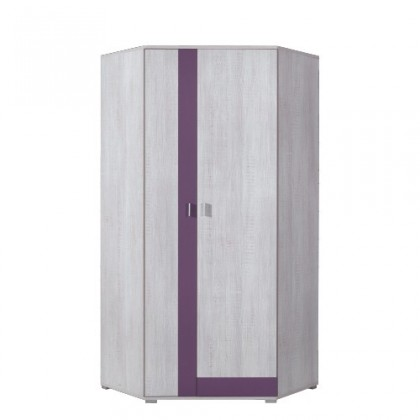 Dětská skříň NEXT NX 2 (borovice/fialová)
