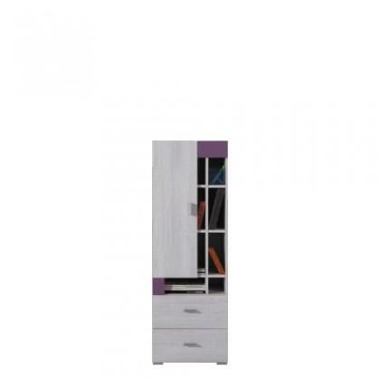 Dětská skříň NEXT NX 9 (borovice/fialová)