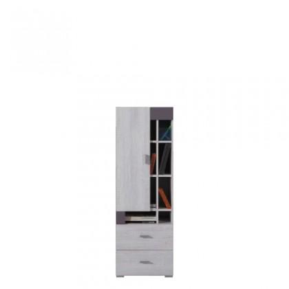 Dětská skříň NEXT NX 9 (borovice/šedá)