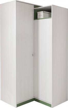 Dětská skříň Stone - Rohová skříň ST2 (bílá, zelená)