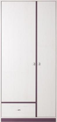 Dětská skříň Stone - Skříň ST3 (bílá, fialová)