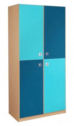 Dětská skříň Sunny - Skříň dvoudveřová (námořní modř)