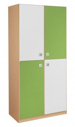 Dětská skříň Sunny - Skříň dvoudveřová (zelené jablko/alpská bílá)