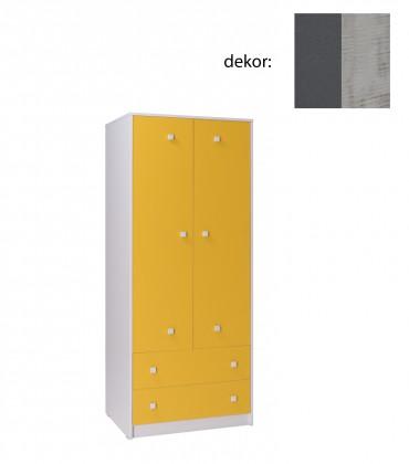 Dětská skříň Tommy 2 (šedá/enigma)