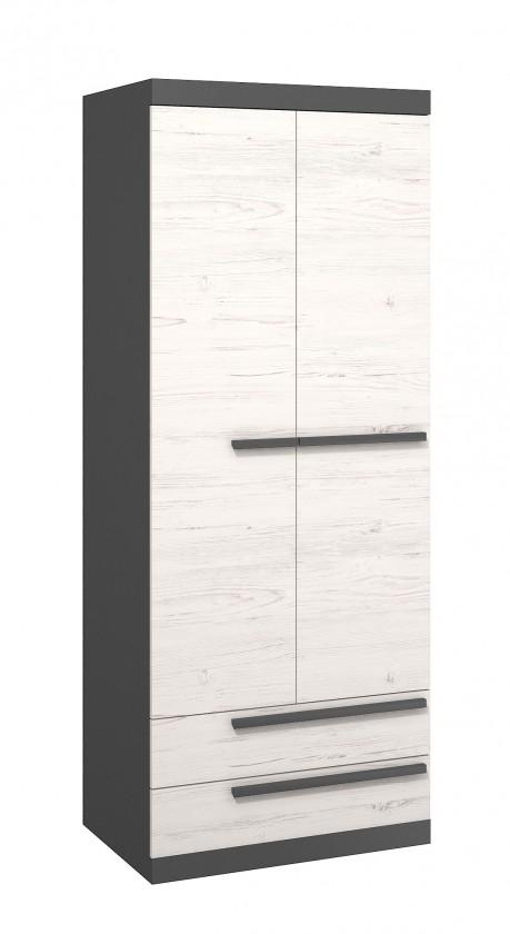 Dětská skříň Trend - Skříň, 80cm (grafit, borovice andersen)
