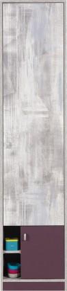 Dětská skříň Zoom - Skříň s policemi ZM4 (antic, fialová)