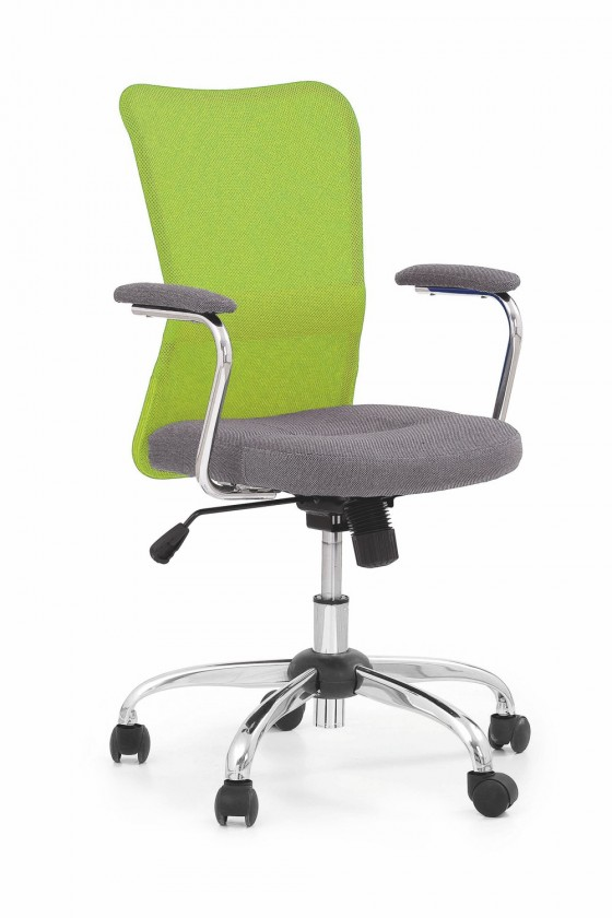 Dětská židle, křeslo Andy - dětská židle (zeleno-šedá)