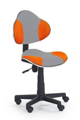 Dětská židle, křeslo Flash 2- dětská židle (šedo-oranžová)