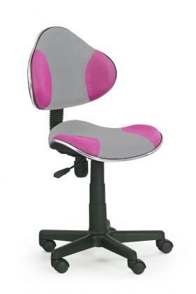 Dětská židle, křeslo Flash 2- dětská židle (šedo-růžová)