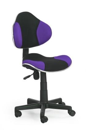 Dětská židle, křeslo Flash - dětská židle (fialovo-černá)