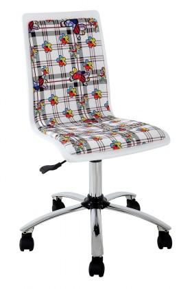 Dětská židle, křeslo Fun 13 - dětská židle (bílé květy)