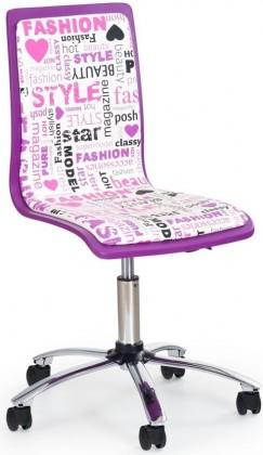 Dětská židle, křeslo Fun-7 (fialová/ružová)