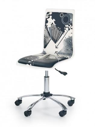 Dětská židle, křeslo Fun 9 - dětská židle (bílo-černá)