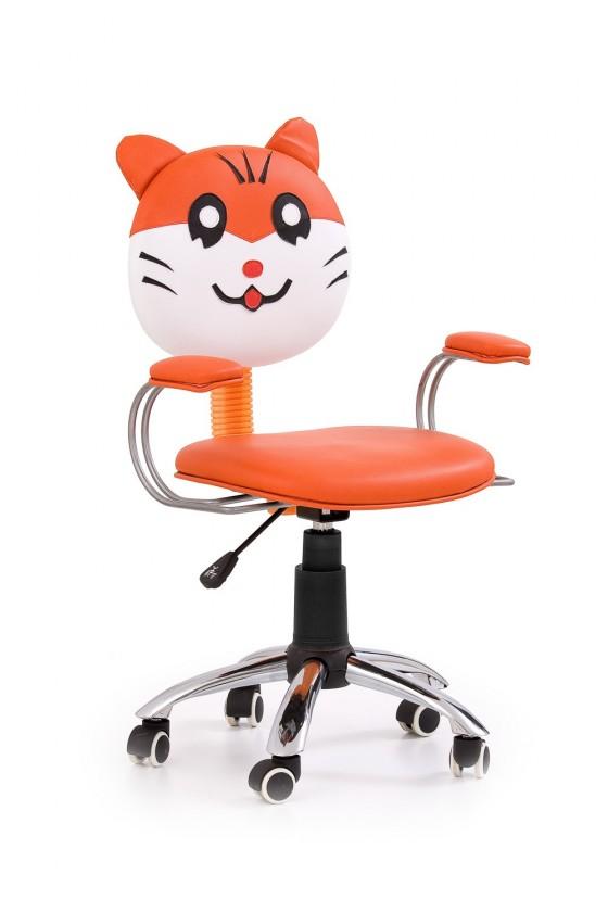 Dětská židle, křeslo Jefry - dětská židle (oranžovo-bílá)