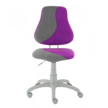 Dětská židle, křeslo Neon (šedá/fialová)