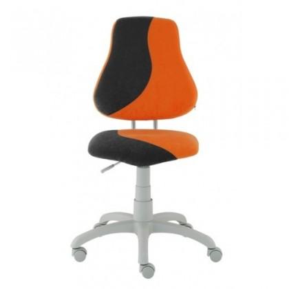 Dětská židle, křeslo Neon (šedá/oranžová)