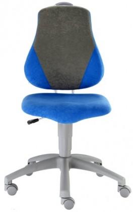 Dětská židle, křeslo Neon V-line (šedá/modrá)
