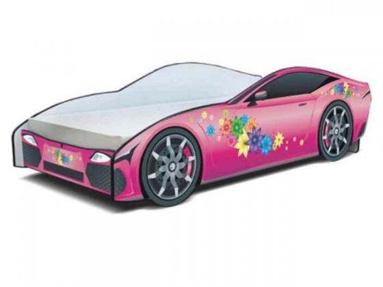 Dětské pokoje ZLEVNĚNO Cars - Dětská postel (růžová)