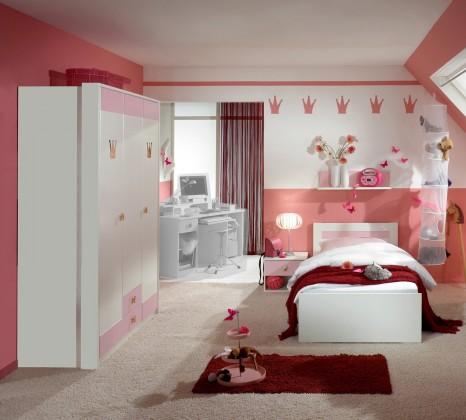 Dětské pokoje ZLEVNĚNO Cinderella - Set 2 (bílá, růžová)