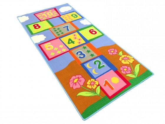Dětský koberec modrý 95x200 cm (skákací panák)