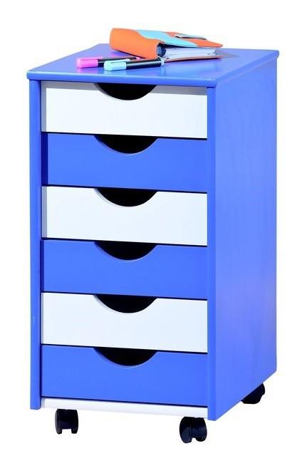 Dětský kontejner Beppo (modrá/bílá)