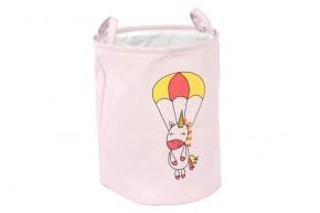 Dětský koš na prádlo (růžová)