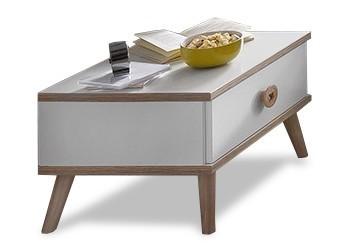 Dětský noční stolek Billund - Noční stolek (alpská bílá, dub)