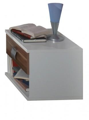 Dětský noční stolek Jette - 317697 (alpská bílá / ořech vlašský)