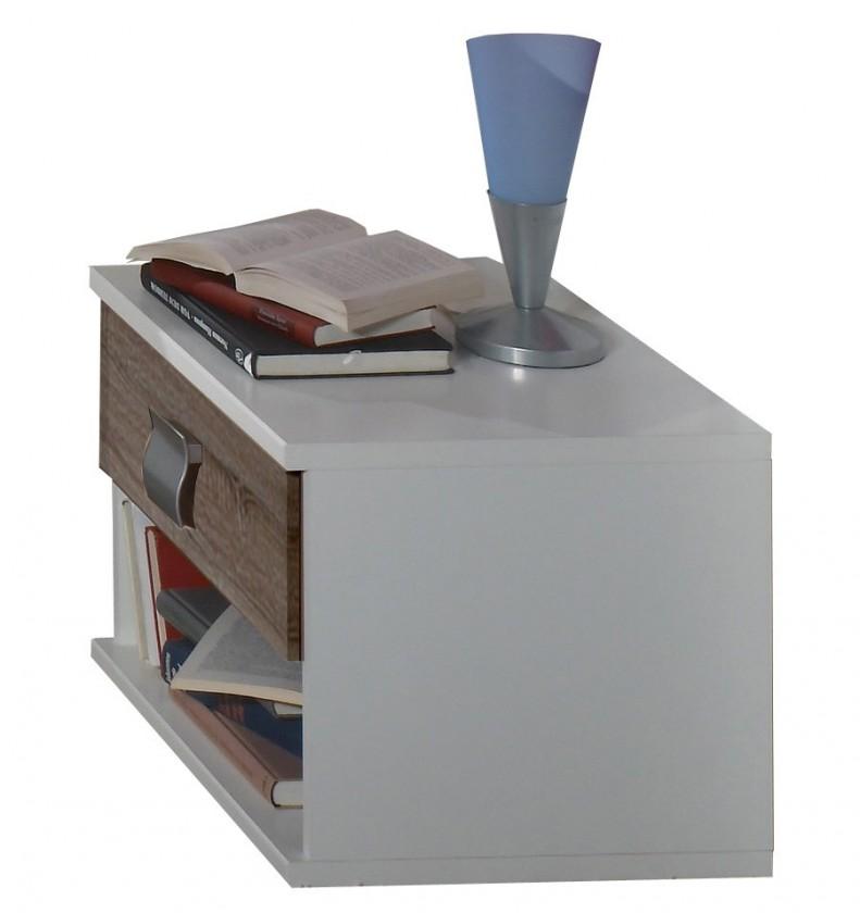 Dětský noční stolek Jette - 360697 (alpská bílá / dub montana)