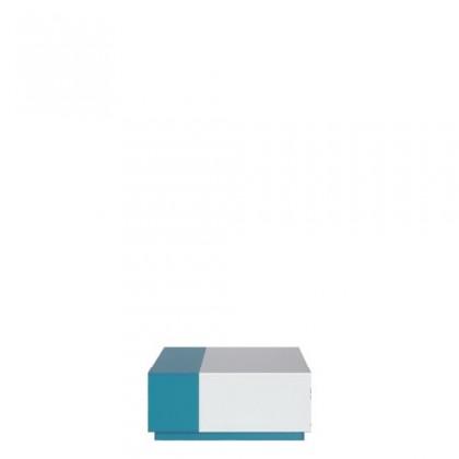 Dětský noční stolek MOBI MO 16 (bílá lesk/tyrkysová)