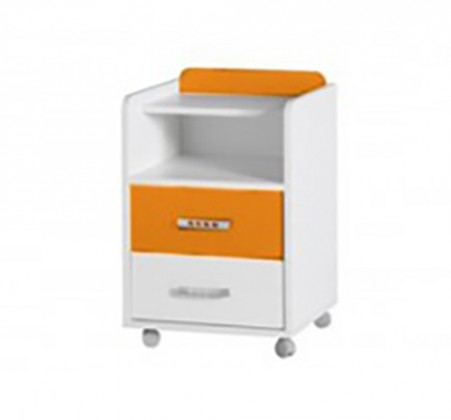 Dětský noční stolek Nemo 7 (bílá/oranžová)
