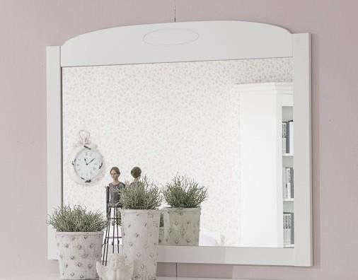 Dětský noční stolek Santorini - Zrcadlový panel, typ 46 (bílá arctic)