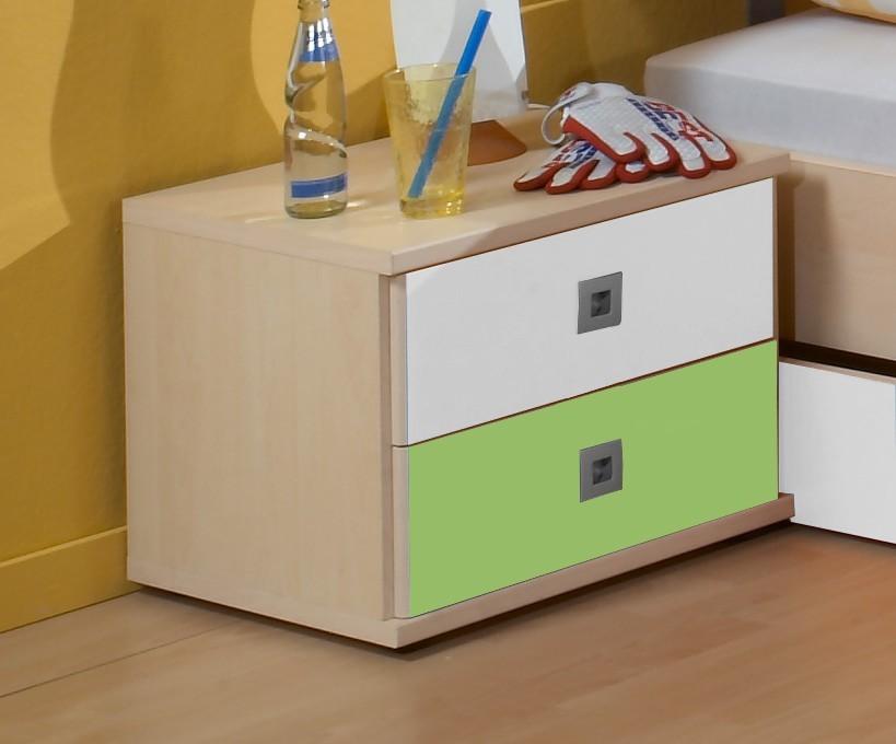 Dětský noční stolek Sunny - Noční stolek (zelené jablko/alpská bílá)