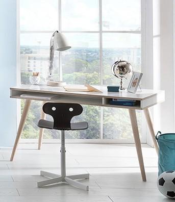 Dětský pracovní stůl Billund - Psací stůl (alpská bílá, dub)