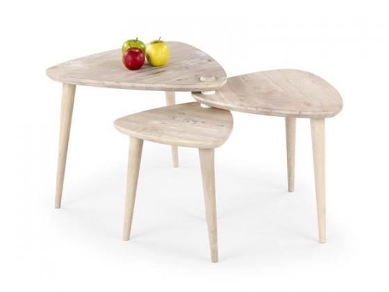 Dětský pracovní stůl Corsica - Trojstolek (bělené dřevo)