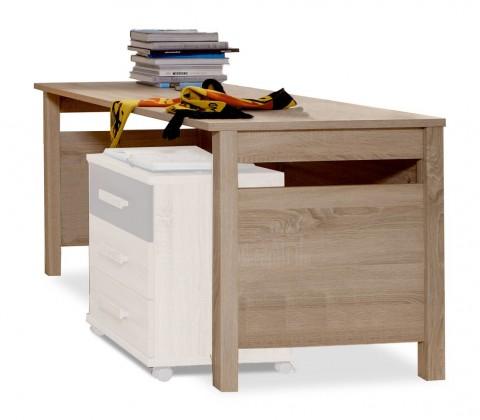 Dětský pracovní stůl Game - Pracovní stůl (dub, černá)