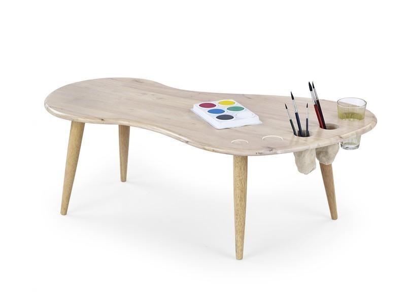 Dětský pracovní stůl Jamaica - Dětský stůl (bělené dřevo)