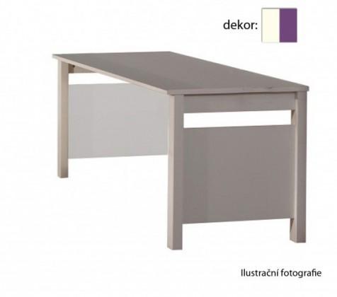 Dětský pracovní stůl Jette - 366416 (alpská bílá / ostružina)
