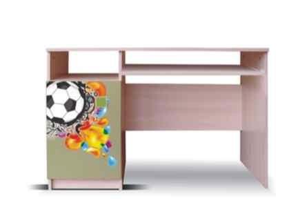 Dětský pracovní stůl Junior - PC stůl, míč 13 (bříza/zelená)