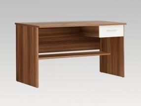 Dětský pracovní stůl Lupo LPB20 M68 (Bílá/ořech)