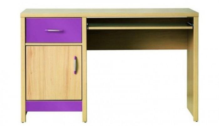Dětský pracovní stůl Monza - pracovní stůl, CD 11 (višeň cornvall, fialová)